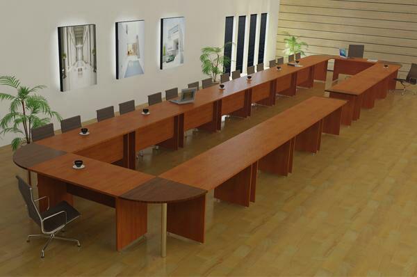 میز کنفرانس طولی تکتا پارتیشن